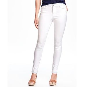 old navy | rockstar mid rise skinny white jeans 12